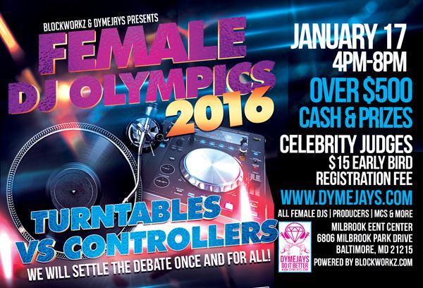 FEMALE DJ OLYMPICS REGISTRATION