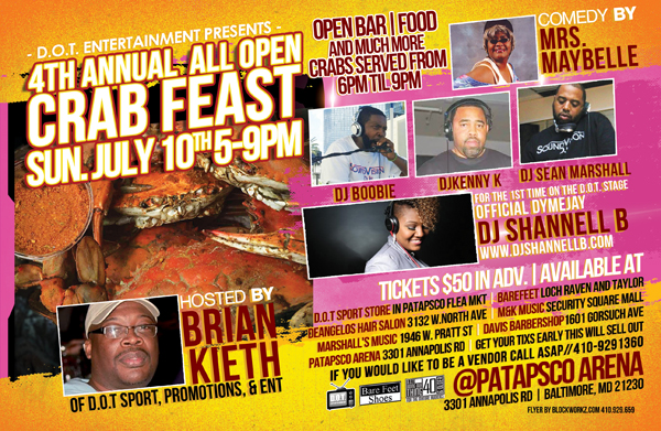 D.O.T. 4TH ANNUAL CRABFEAST
